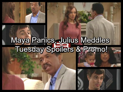 The Bold and the Beautiful Spoilers: Julius Pressures Nicole, Maya Fears the Worst – Coco and RJ Take Big Step Forward