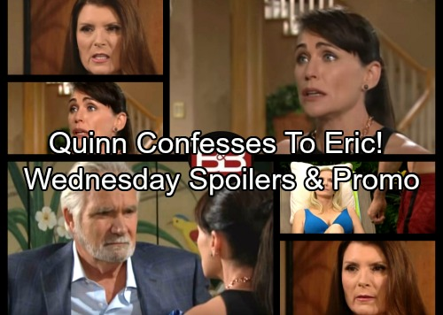 The Bold and the Beautiful Spoilers: Quinn Confesses, Ridge Begs Eric to Forgive Her – Coco's Car Crash Injures RJ