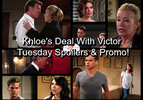 The Young and the Restless Spoilers: Tuesday, July 18 - Kevin and Chloe Make a Deal with Victor – Victoria's Health Threat