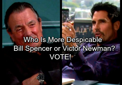 The Young and the Restless Spoilers: CBS Soap Baddies - Who is More Despicable B&B's Bill Spencer or Y&R's Victor Newman?