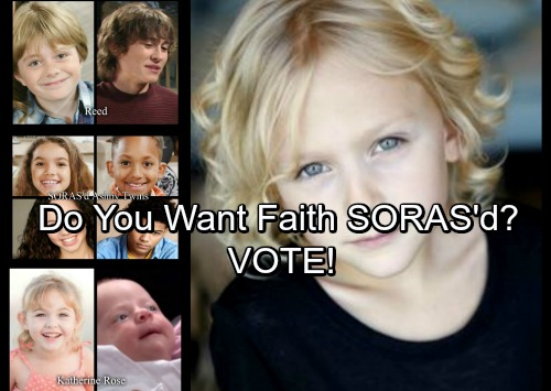 The Young and the Restless Spoilers: Will Faith Newman Be SORAS'd After Camp - Do You Want A Teenage Faith? VOTE!