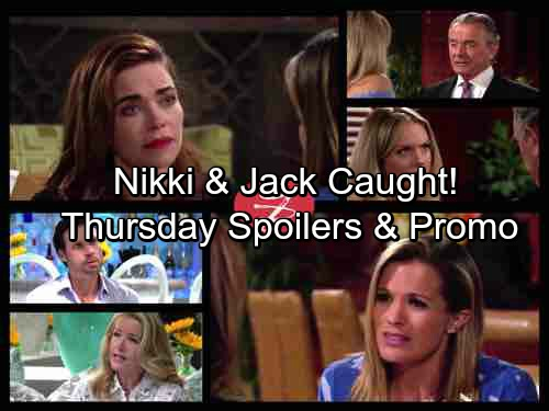 The Young and the Restless Spoilers: Thursday, August 3 - Mariah Plants a Kiss on Tessa – A Spy Catches Nikki and Jack