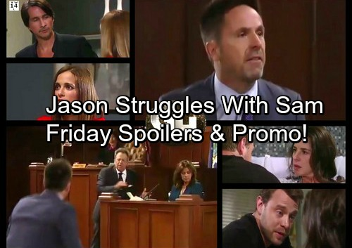 General Hospital Spoilers: Friday, August 11 – Julian Stands Up for Alexis – Carly Demands Change – Jason Struggles to Stop Sam