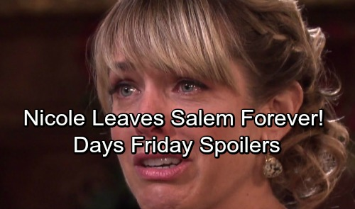 Days of Our Lives Spoilers: Friday, October 20 - Nicole Fights With Sami, Leaves Salem – Bonnie and Victor's Wedding Starts