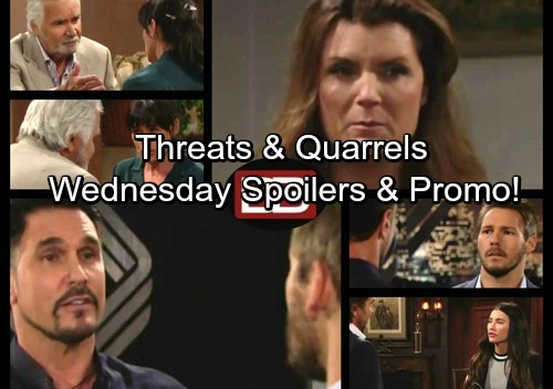 The Bold and the Beautiful Spoilers: Ridge Tackles Sheila Drama, Caught in Eric and Quinn's Quarrel – Bill and Liam Exchange Threats