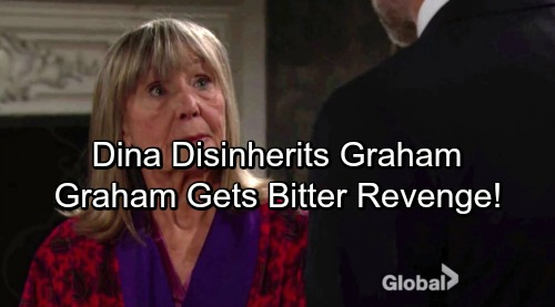 The Young and the Restless Spoilers: Furious Dina Cuts Graham Out of Her Will – Spiteful Graham Exposes Ashley's Paternity