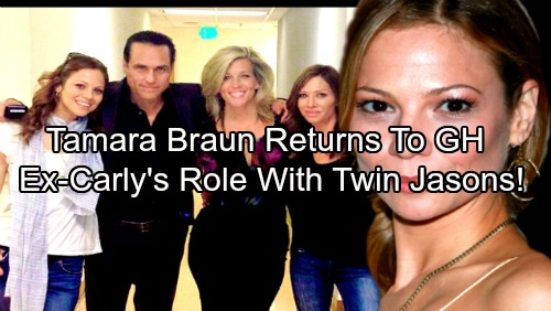 General Hospital Spoilers: Tamara Braun Returning To GH  – Big Plans For Ex-Carly With Billy Miller and Steve Burton