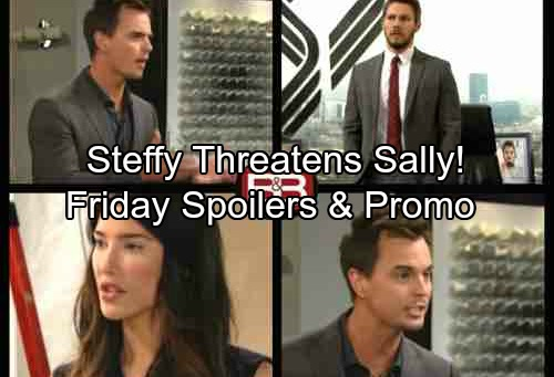 The Bold and the Beautiful Spoilers: Friday, September 22 - Bill Fights for His Marriage – Steffy Threatens Sally