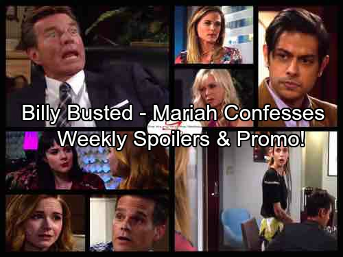 The Young and the Restless Spoilers: Week of September 25 Update - Mariah Confesses Love To Tessa – Billy Busted, Jack Explodes