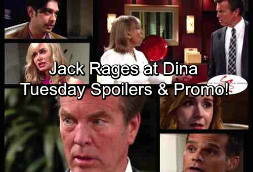 The Young and the Restless Spoilers: Tuesday, September 26 - Jack Rages Over Dina's Sabotage – Ravi's Stunning News
