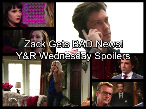 The Young and the Restless Spoilers: Wednesday, September 27 - Alice's Shocking News for Zack - Tessa Crushes Mariah