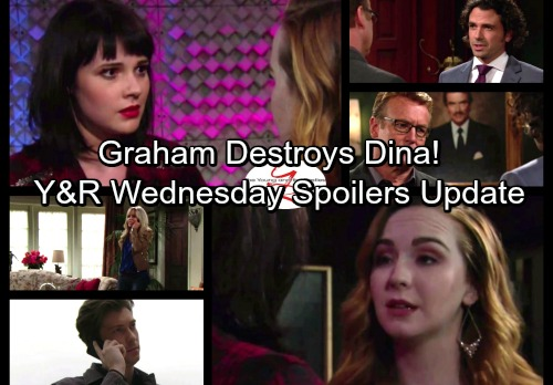 The Young and the Restless Spoilers: Wednesday, September 27 - Graham Plots Dina's Destruction – Jack Deceives Phyllis