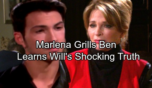 Days of Our Lives Spoilers: Marlena Grills Ben to Learn Truth About Will's Survival and Location