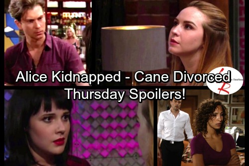 The Young and the Restless Spoilers: Thursday, September 28 - Tessa and Mariah Kidnap Alice – Zack's Shocking Suggestion