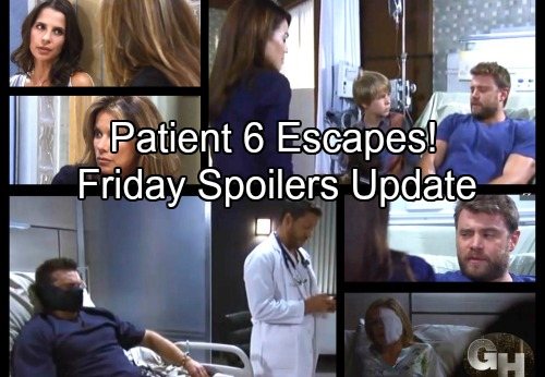 General Hospital Spoilers: Friday, September 29 Update – Patient Six Ready to Run – Kristina's News – Jason Ponders Mystery