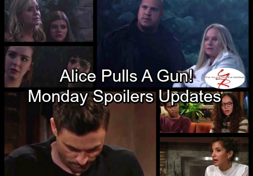 The Young and the Restless Spoilers: Monday, October 2 Update - Alice Grabs a Gun for Crystal's Sake – Zack's A Cornered Rat