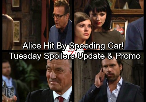 The Young and the Restless Spoilers: Tuesday, October 3 - Alice Hit by a Speeding Car – Crystal Enters Witness Protection