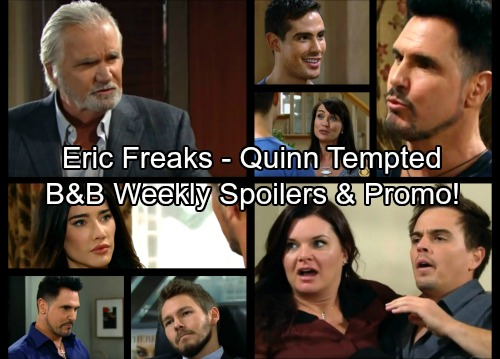 The Bold and the Beautiful Spoilers: Week of October 2 - Quinn Set Up With Mr Sexy – Eric Horrified Catching Wyatt and Katie