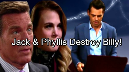 The Young and the Restless Spoilers: Jack and Phyllis Fight Billy – Twisted Trio Headed For Doom