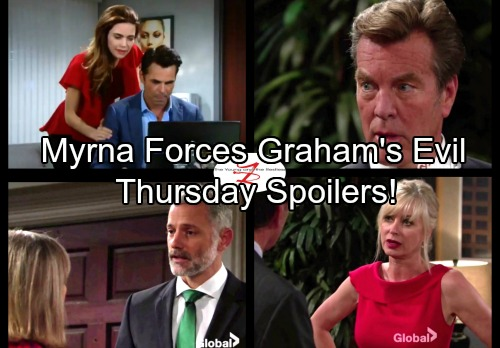 The Young and the Restless Spoilers: Thursday, October 5 - Myrna Orders Graham To Finish Dina Off – Ashley's Prestigious Award