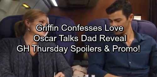 General Hospital Spoilers: Thursday, October 5 – Griffin Confesses Love to Ava – Oscar Talks Father Reveal