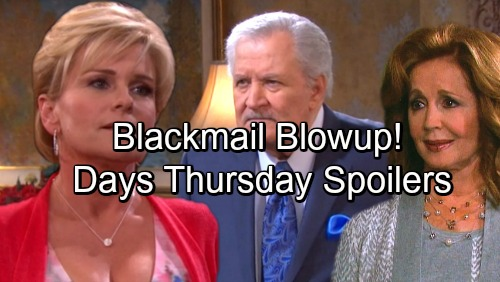 Days of Our Lives Spoilers: Thursday, October 12 - Kate Reveals Name of Mysterious Inmate – Bonnie's Blackmail Enrages Victor