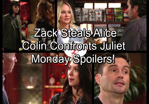 The Young and the Restless Spoilers: Monday, October 9 - Zack Steals Alice From Hospital – Colin Rattles Juliet Over Baby