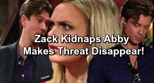 The Young and the Restless Spoilers: Abby Kidnapped, Zack Makes Threat Disappear – Scott Solves Mystery, Pulls Off Daring Rescue