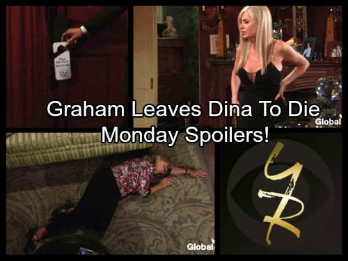 The Young and the Restless Spoilers: Graham Leaves Dina to Die After Shocking Collapse, Ashley Tries To Save Mom