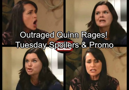 The Bold and the Beautiful Spoilers: Tuesday, October 17 - Sheila's Pam Scheme – Mateo Backs Up Quinn's Outrage