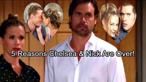 The Young and the Restless Spoilers: 5 Reasons Why Chelsea and Nick's Romance Is Doomed – See How Adam Newman and Sharon Fit