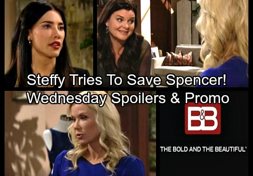 The Bold and the Beautiful Spoilers: Wednesday, October 18 - Steffy Tries To Save Spencer – Katie Bad Mouths Bill