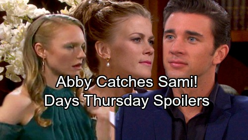 Days of Our Lives Spoilers: Thursday, October 19 - Sami and Abigail's Showdown – Tripp and Kayla's Awkward Meeting