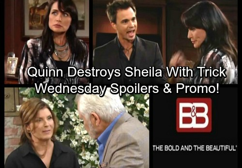 The Bold and the Beautiful Spoilers: Wednesday, October 25 - Wyatt Gives Quinn Harsh Warning – Sheila Takes the Poisoned Bait