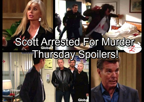 The Young and the Restless Spoilers: Thursday, October 26 - Scott Arrested and Framed for Murder – Victoria Hospital Chaos