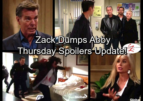 The Young and the Restless Spoilers: Victor Hands Scott to Police – Victoria's Toxic Diagnosis – Zack Dumps Abby, Plots Getaway
