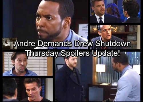 General Hospital Spoilers: Thursday, October 26 Update – Andre Desperate to Contain Drew Story – Michael Explodes