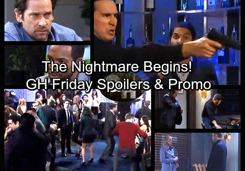 General Hospital Spoilers: Friday, October 27 – Shots Fired at Party, Sonny and Patient 6 Race to Help – Sam Kidnapped