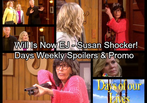 Days of Our Lives Spoilers: Week of October 30 - Susan Shows Up with a Shotgun – Shocking EJ and Will Connection