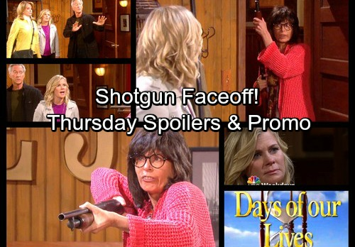 Days of Our Lives Spoilers: Thursday, Nov 2 - Armed Susan Faces Salemites – Eve Gets Shocking News