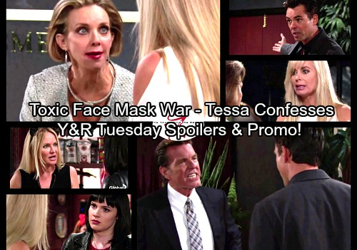 The Young and the Restless Spoilers: Tuesday, October 31 - Gloria Under Fire For Toxic Masks – Tessa Confesses Dark Past