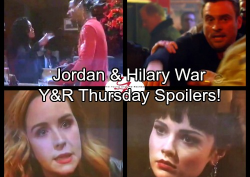 The Young and the Restless Spoilers: Thursday, November 2 - Billy Trapped - Firefighters Hold Back Cane – Jordan and Hilary At War
