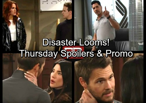 The Bold and the Beautiful Spoilers: Thusday, Nov 2 - Steffy Begs Liam to Call Off Dangerous Protest – Bill's Plan Moves Forward