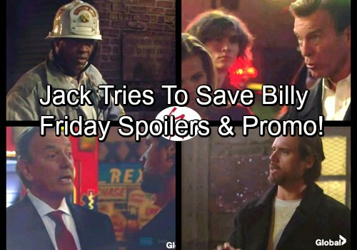 The Young and the Restless Spoilers: Friday, Nov 3 - Jack Panics Over Billy Dying In Fire, Fears He'll Lose Brother