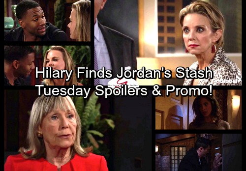 The Young and the Restless Spoilers: Tuesday, November 7 - Hilary Finds Jason's Hidden Stash – Billy and Cane Go To Jail
