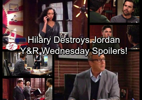 The Young and the Restless Spoilers: Wednesday, November 8 - Hilary Exposes Jordan's Shady Past, Chelsea Caught in the Chaos
