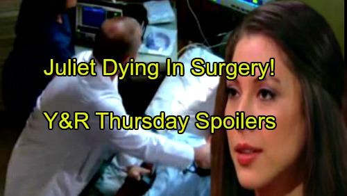 The Young and the Restless Spoilers: Thursday, November 9 - Juliet Loses Too Much Blood During Surgery, Doctor Tries to Save Baby