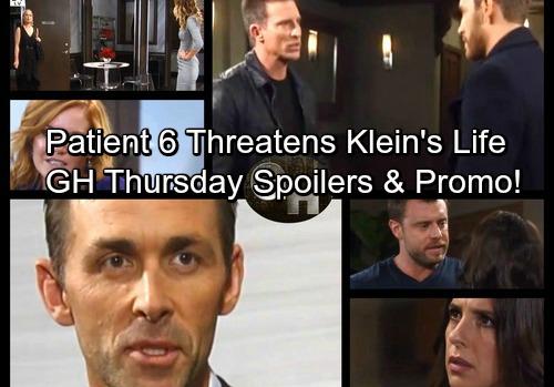General Hospital Spoilers: Thursday, November 9 – Patient 6 Threatens Klein – Valentin Warns Nelle – Josslyn Needs Sonny's Help