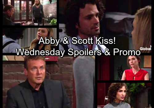 The Young and the Restless Spoilers: Wednesday, Nov. 15 - Abby and Scott Kiss – Victoria Scapegoats Captive Sister, Lily Outraged