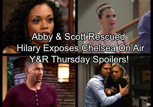 The Young and the Restless Spoilers: Thursday, November 16 - Hilary Airs Chelsea's Crime Connection – Scott and Abby Saved
